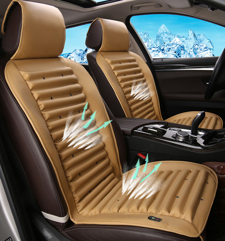 Elextric Cooling Car Seat Cover Leather Mats For Nissan Qashqai Accessories Cargo Interior J10 J11 Teana