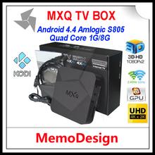MXQ XBMC Preload smart S805 Android 4.4 TV BOX Quad Core 1GB+8GB Cortex A5 1.5GHZ+Mali-450 Android 4.4 WIFI movie Media Player