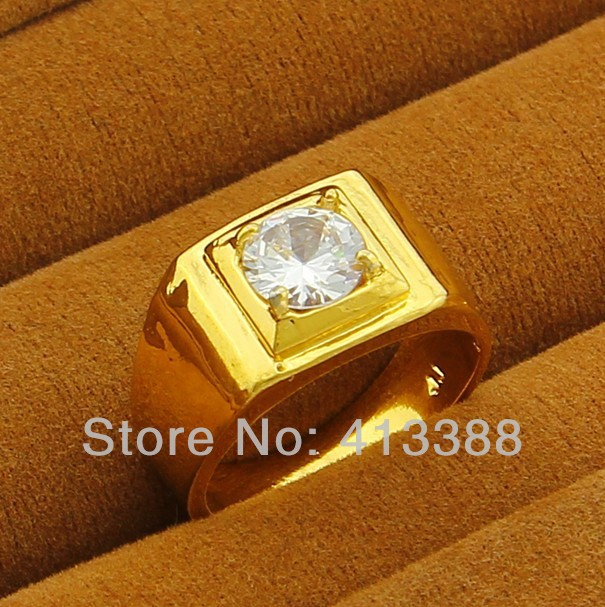 JR022 Top Quality 24K Gold Plated Men Jewlery Inside Zircon Men's Ring,wide 11mm,weight 5.6g cool men jewelry ring.(China (Mainland))