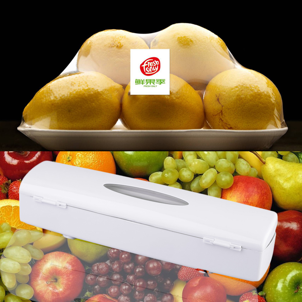 1Pc Kitchen Plastic Food Cling Wrap Foil Dispenser Cutter Preservative Film Tool(China (Mainland))