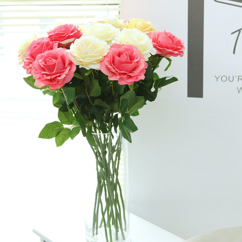 Morden/Home accessories artificial flower Spring Rose Silk Cloth Flowers