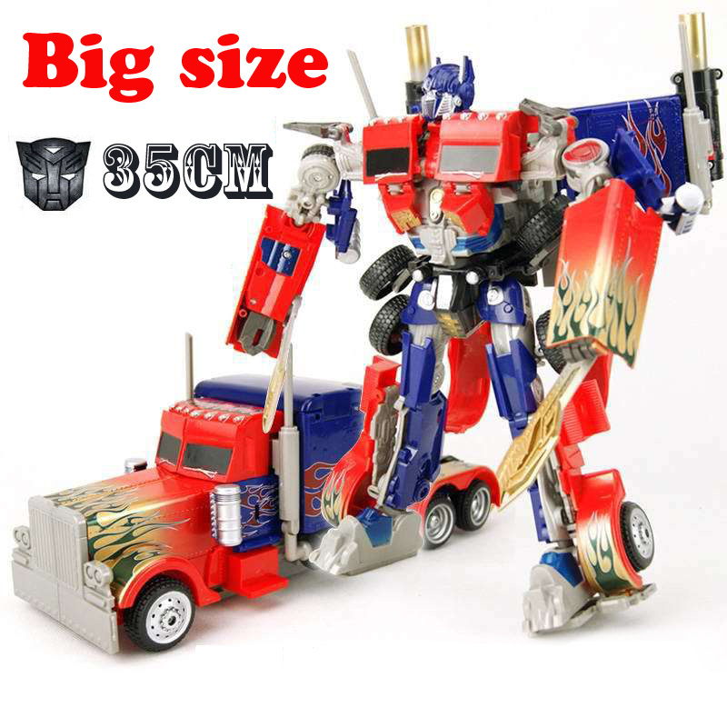 Toys & Hobbies Big Size Transformation Robot Model Movie 4 Bumblebee Optimus Prime Action Figures Classic Toys for Children(China (Mainland))