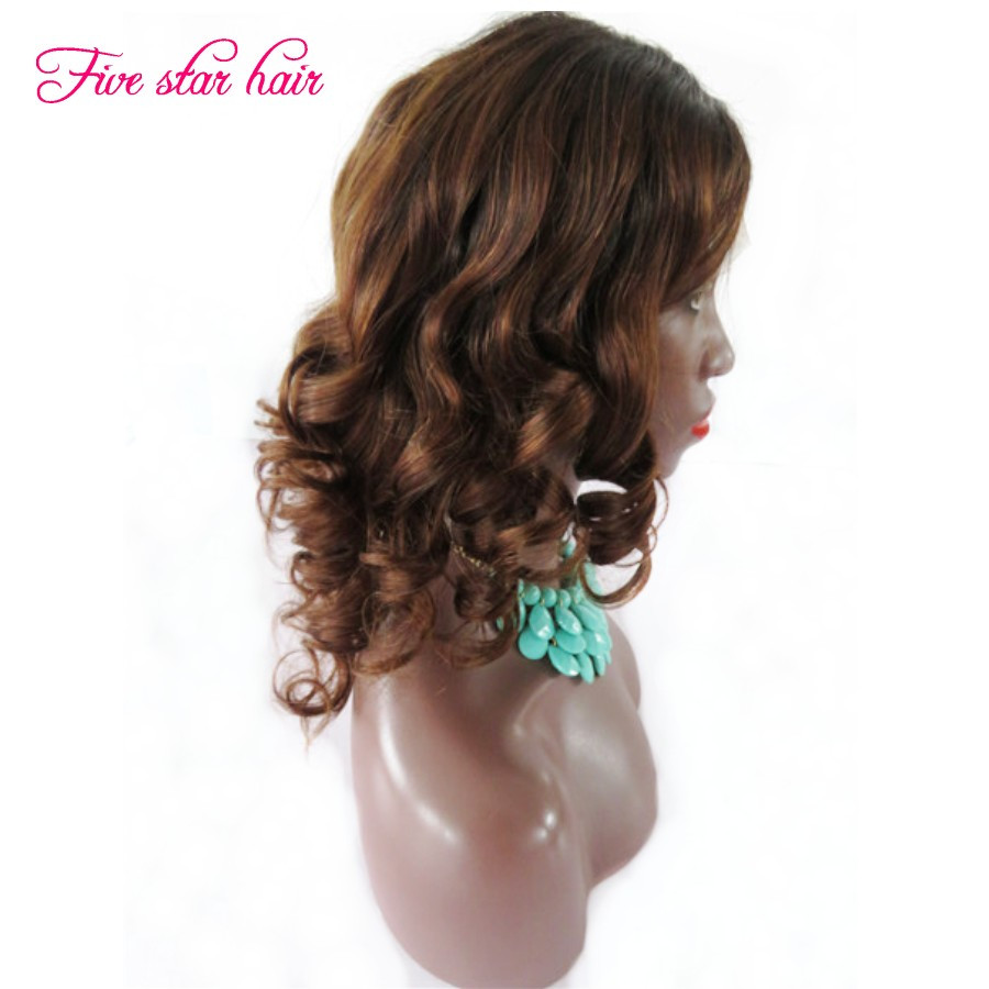 Free shipping  Full lace wigs for black women Color #1b#30 Ombre Lace front wigs 100 Malaysian human hair with Natural Hairline