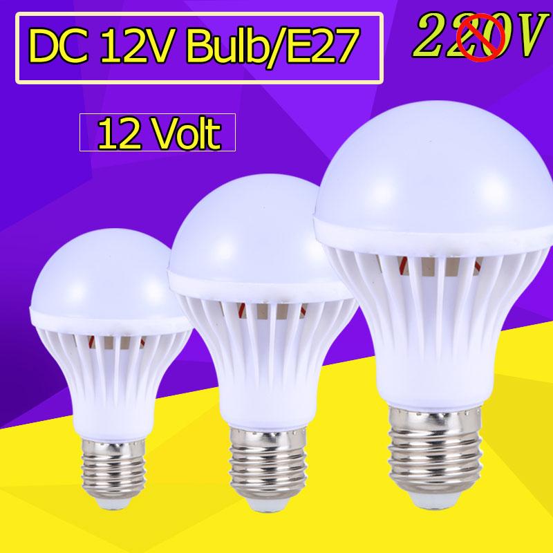 e27 led blub lights dc 12v led lamp e27 3w 5w 7w 9w 12w energy saving bulb lampade leds12 volt. Black Bedroom Furniture Sets. Home Design Ideas