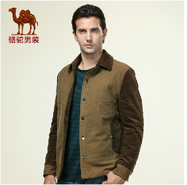 Camel Men's 2014 winter new Slim fashion simple cotton men's jacket(China (Mainland))