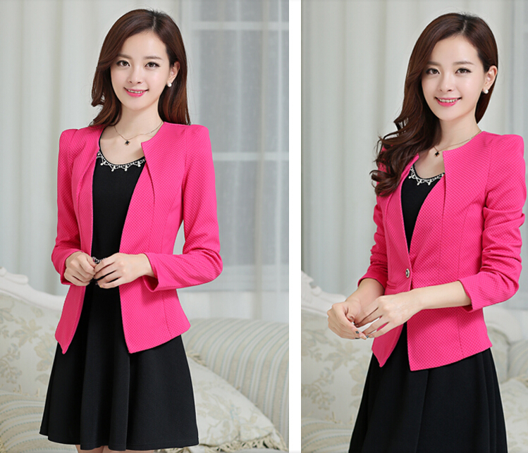 Fashion women Blazers 2014 spring autumn female blazer Suits outerwear short design womens long-sleeve slim casual - Hallelujah Trade Co.,Ltd store
