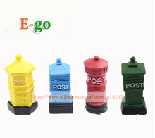 1PCS 4 Colors Min. $10 Micro Landscape Vintage Mini Mailbox Letter Box DIY Fairy Garden Genome Decor Crafts Bonsai Ornaments(China (Mainland))