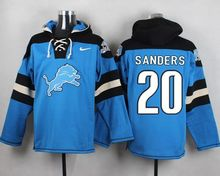 100% Stitiched,detroit lions Calvin Johnson,Barry Sanders,Matthew Stafford Eric Ebron customizable Sweater hoodies any name nu(China (Mainland))