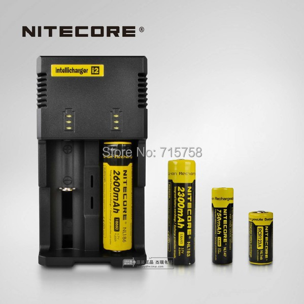 Free Shipping 1PC Nitecore Intellicharge i2 Microcomputer Controlled Intelligent Charger Li-ion/NiMH Battery Charger