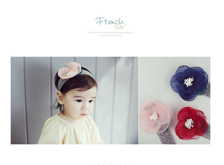 Baby's Cute Little Chiffon Flower Hair Band Toddle ibbon Elasticity Ferret Hair Accessories/Mix Discount Freeshipping 1pcs(China (Mainland))