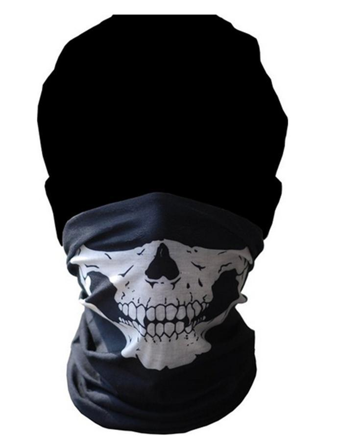 Skull Cycling Mask Outdoor Sports Motorcycle Riding Face Mask Bandanas Scarves Wicking Seamless Cycling Neck Tube Kerchief Scarf(China (Mainland))
