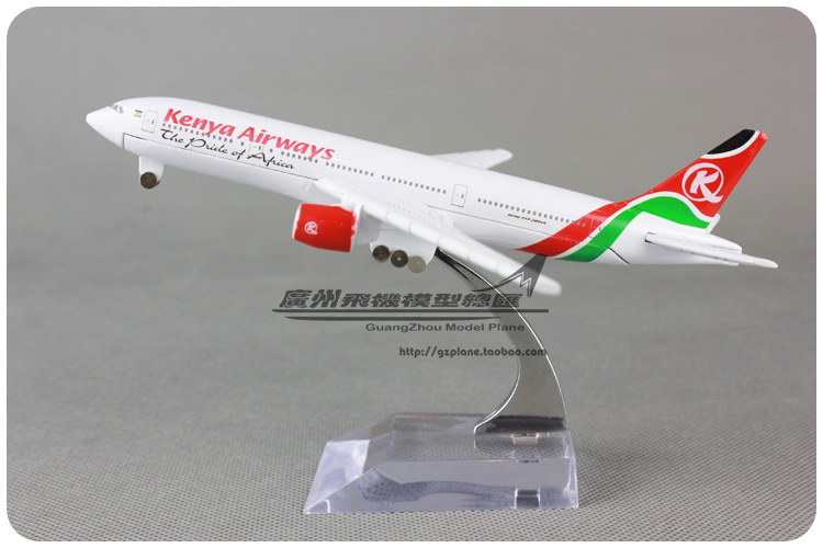 16cm Kenya Airways B777 Airlines Alloy Airplane Model Airways Plane Model Diecast Souvenir Collections Vehicle Toy(China (Mainland))