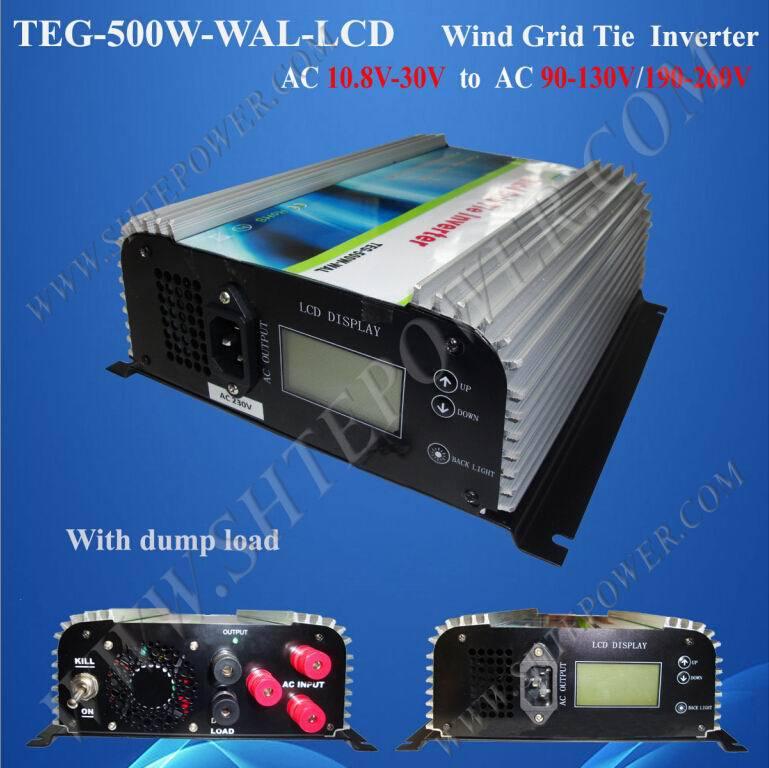 24v 220v 500w on grid tie inverter for 400w wind generator(China (Mainland))