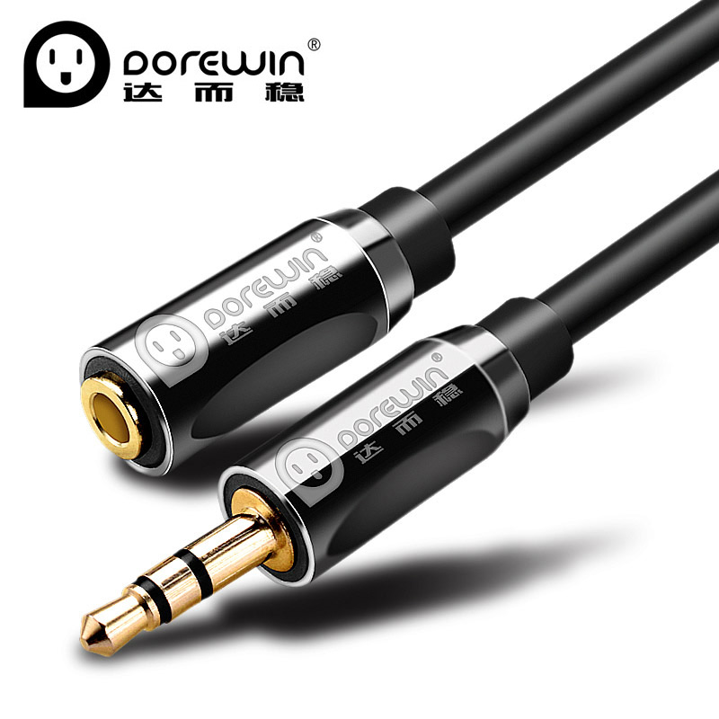 Dorewin 3.5mm AUX audio cable Stereo Audio Extension Cable Male to Female for headphone/IPHONE/DVD/TV/MP3 CD PLAYER(China (Mainland))