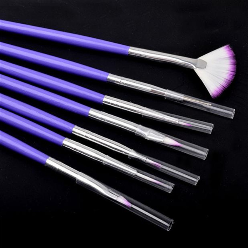 New Arrival 7pcs/set  Luxury Nail Art Design Brushes Set Painting Pen Polish Tips  Gift  For Beauty D16