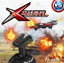 F16809/10 Attop YD-822S Infrared Battle 2.4G 4CH 6-Axle Single Fort Battle Drone RC Helicopter Quadcopter Toys
