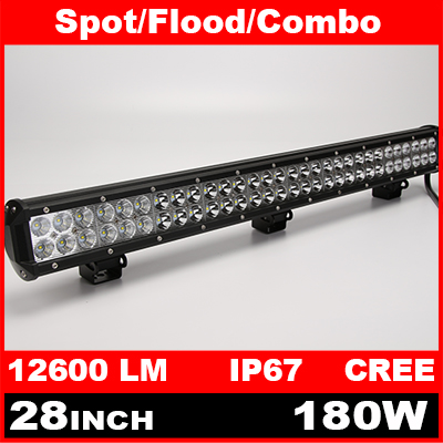 28 Inch 180W Cree LED Work Light Bar for Indicators Motorcycle Driving Offroad Boat Car Tractor Truck 4x4 SUV ATV Flood 12V(China (Mainland))