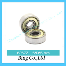 10 pcs lot 3d printer Miniature deep groove ball bearing 626ZZ 6 19 6 mm for