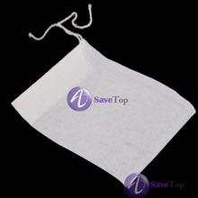 SaveTop New idea 50 PCS Empty String Heat Seal Filter Paper Tea Bag 6X8CM Direct selling(China (Mainland))