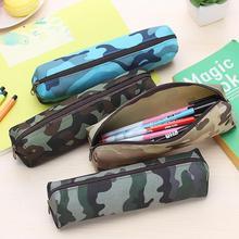2015 Hot Sale Boys and Girls  Camouflage Pencil Case Canvas Pencil Bag School Supplies Cosmetic Makeup Bag Zipper Pouch Purse
