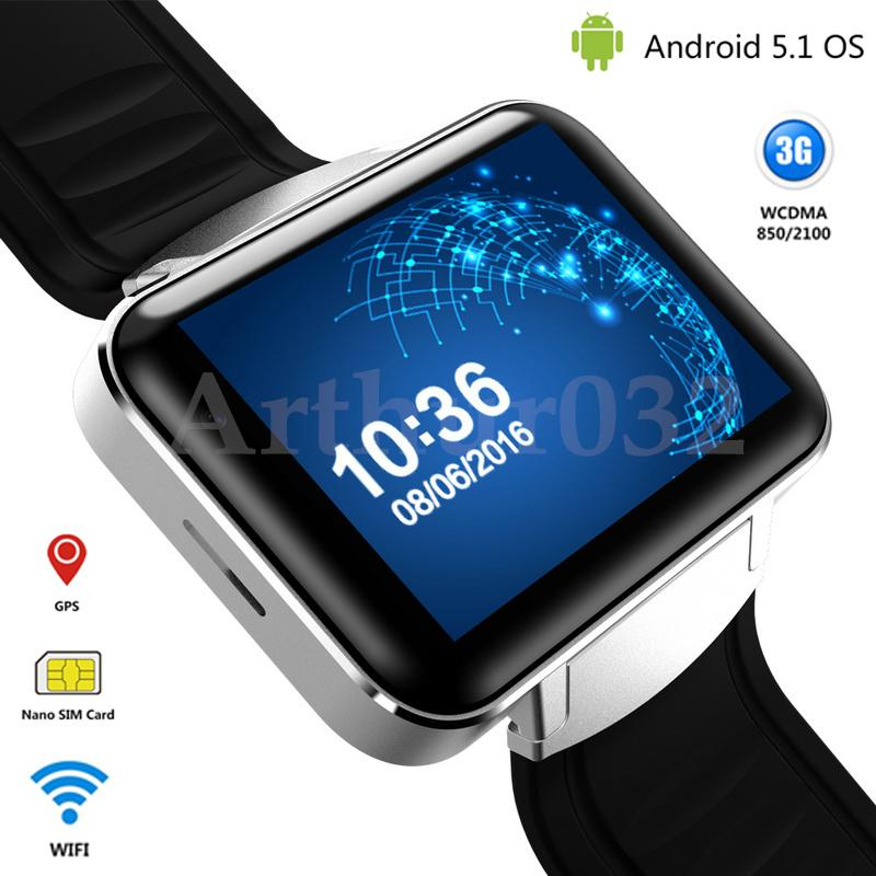 3G Android Smart Watch Phone Bluetooth Quad Core Sports Wristwatch DM98 Smartwatch Supports WCDMA GPS Wifi Whatsapp Skype 2017(China (Mainland))