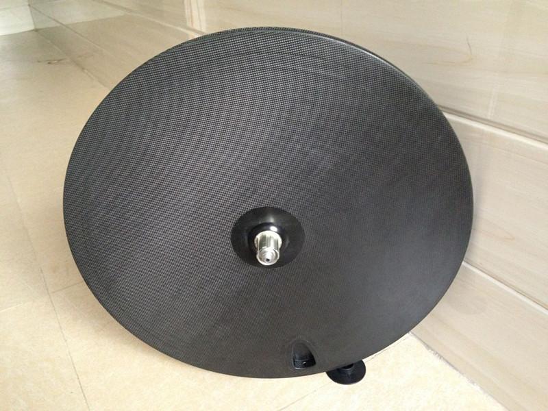 full carbon fiber bicycle track diac wheel 700C Disc wheel 3k glossy carbon disc wheel tubular Fixed gear bicycle wheels(China (Mainland))