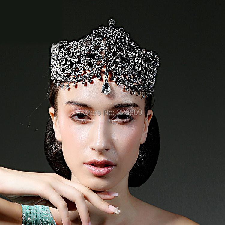 Luxurious rhinestone Queen crown  Princess crystal frontlet bridal diadem  perfect bridal tiaras wedding  dress accessories<br><br>Aliexpress