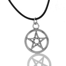 Fine Jewelry 1PC Black Pentagram Star Charm Pendant Necklace Hot Fashion Jewelry 70cm