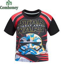 Star Wars T-shirt Blaze and The Monster Machines T Shirts for Boys Five Night At Freddy Tee Fireman Sam Teen Tops Kids Clothes