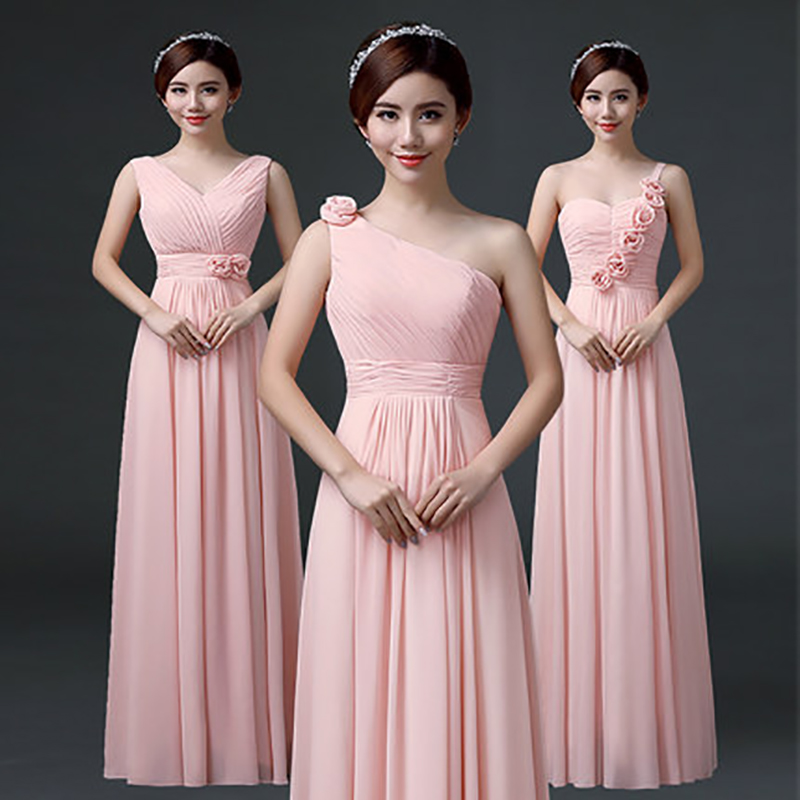 Hermosa Vestido De La Dama De Honor De Color Componente - Ideas de ...