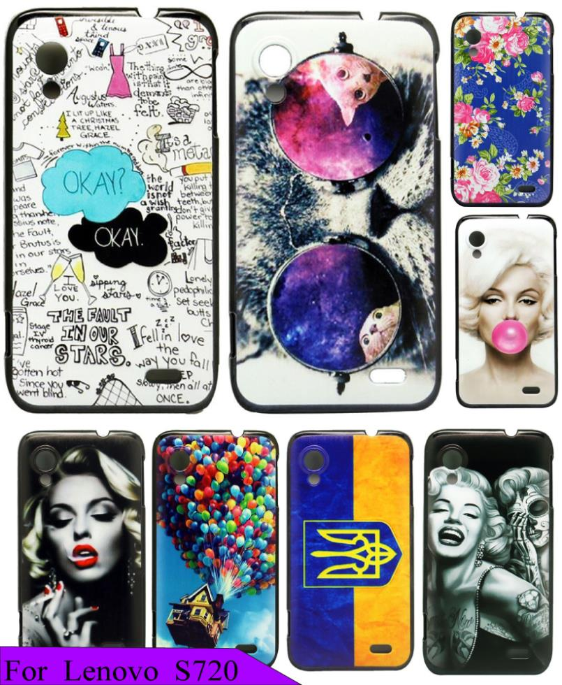 Cover For Lenovo S720 S720i Cute Beauty Painting The Fault in Our Stars OKAY Protective Phone Case Beautiful Hard Plastic(China (Mainland))