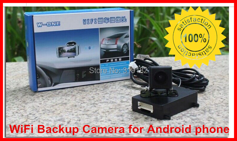 WiFi Backup Camera for Android phone,wifi transmission ,WIFI in Car Backup Rear View Reversing Camera 12V DC Car power supply(China (Mainland))