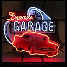 Chevy Dream Garage NEON SIGN Bright Handcrafted Recreation Room Window Neon Bulbs Garage sign Art Design Real Glass Tube 30x24(China (Mainland))