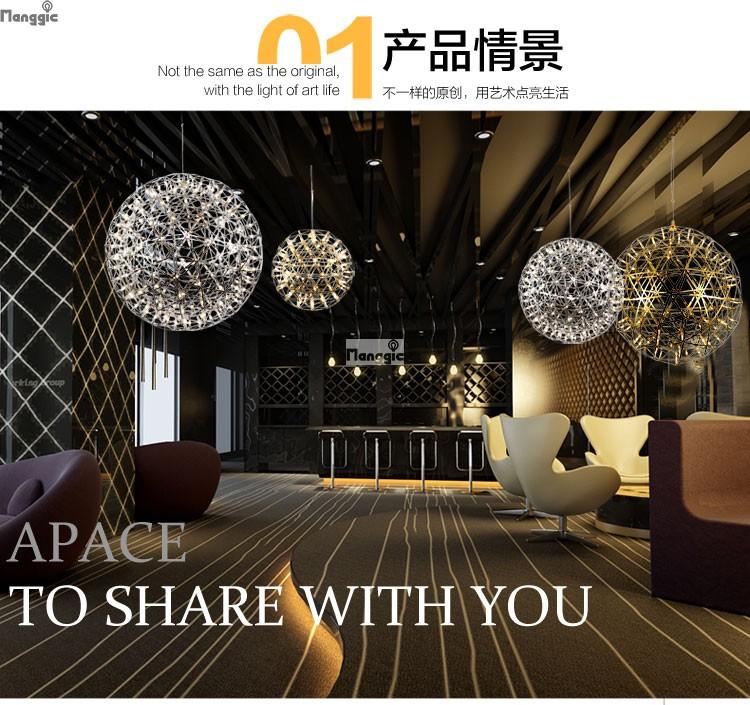 Dimbare Moooi Raimond Vuurwerk LED Hanglampen Moderne Creatieve Hanger Lampen Rvs Bal Verlichting Restaurant/Foyer(China (Mainland))