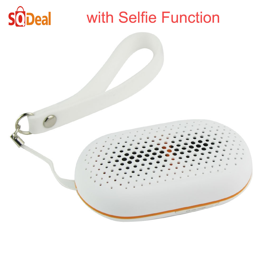 New Arrive Mini Portable Speaker Wireless Bluetooth Speakers with Selfie Remote Shutter Portable Audio Player Support TF SD Card(China (Mainland))
