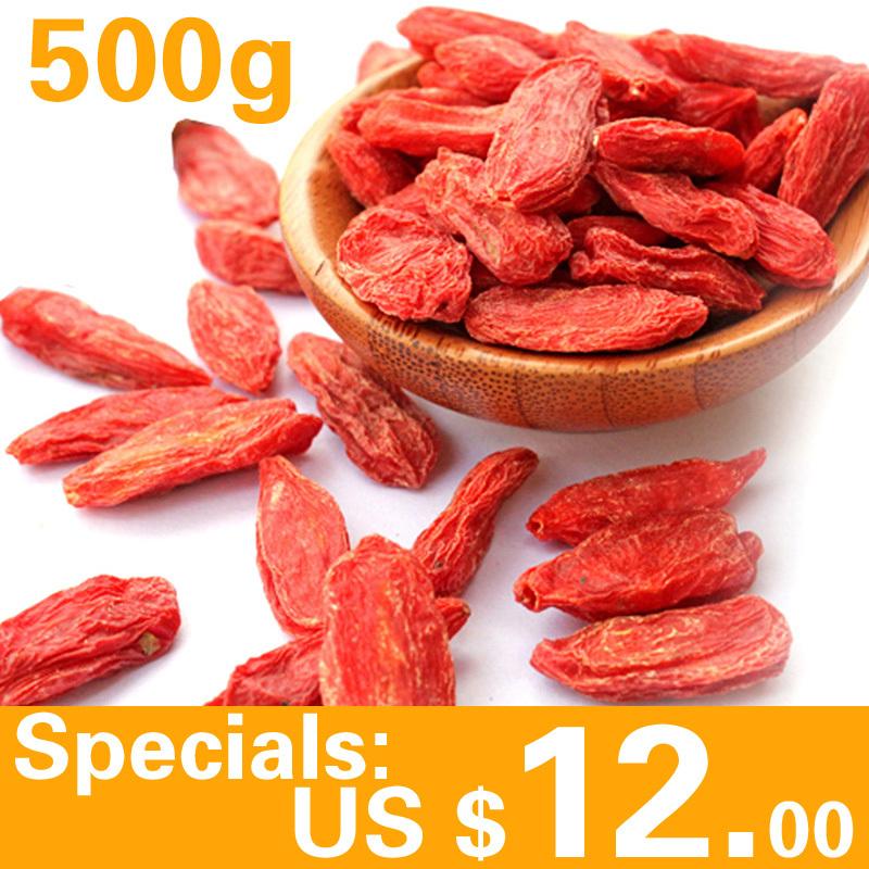 Wholesale goji berry 500g organic natural medlar Dried fruit weight loss Beauty Health Chinese herbology goji