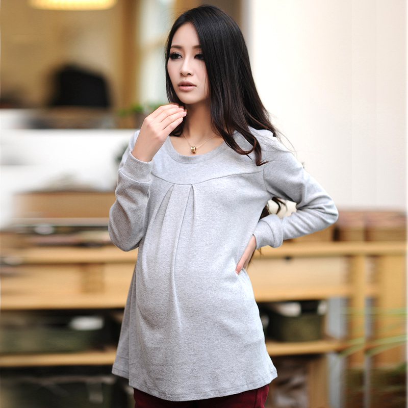 Maternity clothing autumn top maternity basic shirt long-sleeve spring and autumn maternity t-shirt maternity basic shirt