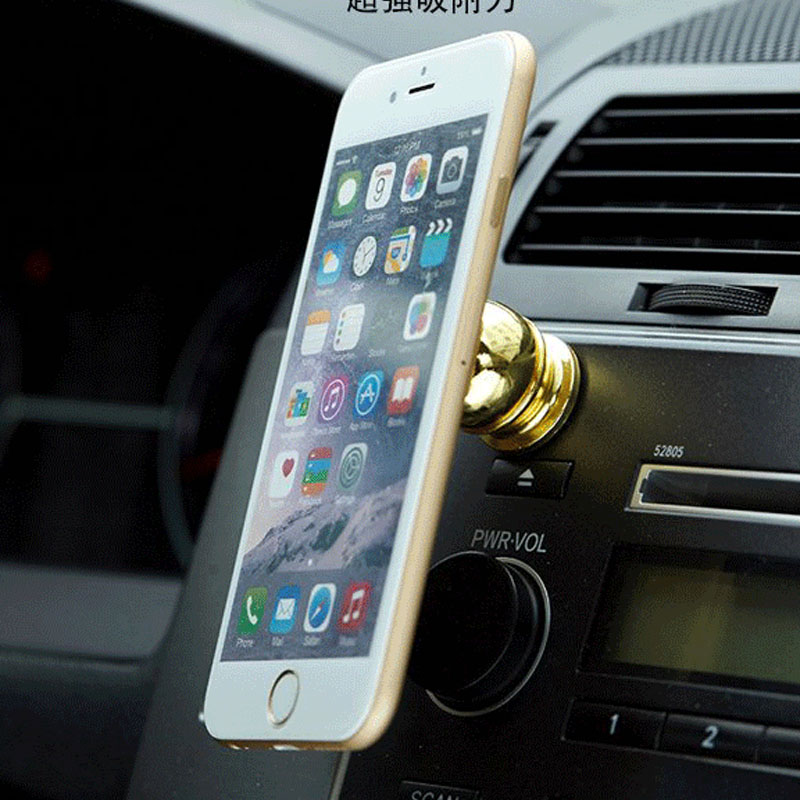 Magnetic car phone holder Car phone holder Aluminum cell phone holder Free shipping(China (Mainland))