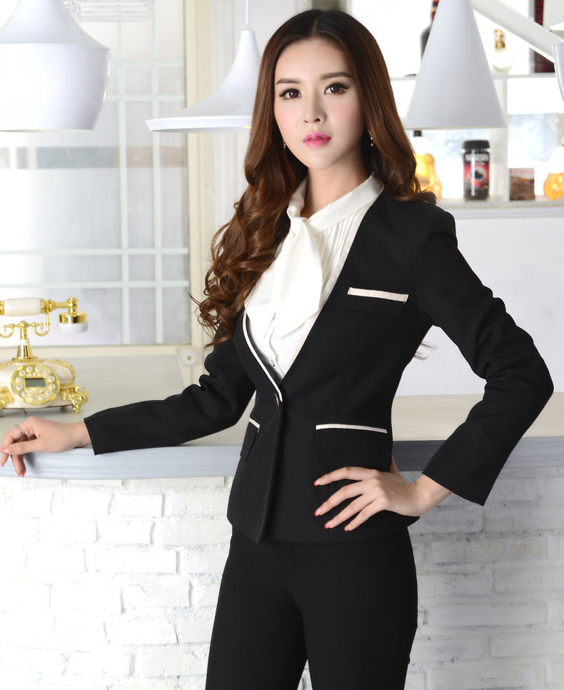 New 2014 Autumn Winter High Quality Fashion Women Pant Suits for Formal Ladies Blazer and Pants Business Sets Plus Size 4XLОдежда и ак�е��уары<br><br><br>Aliexpress