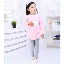 OWEST Heart Pattern Toddler Girls Clothing Sets Baby Kids Heart Shirt Dress+Leggings+Headband Kids 3PCS Cotton Outfit(China (Mainland))
