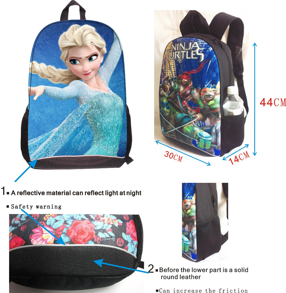 Brand creative 3D Cristiano Ronaldo boys girls school shoulder bags  star character parttern backpack for college student