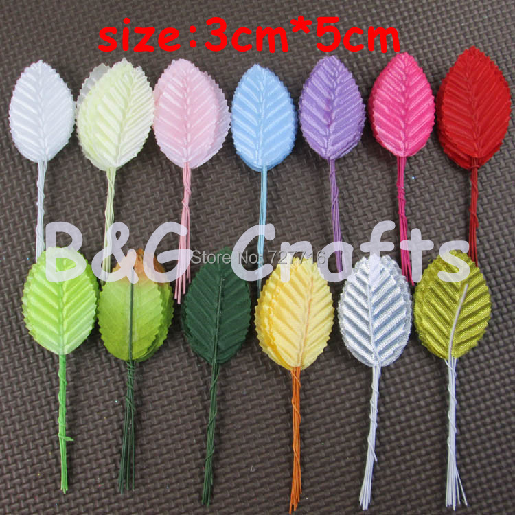 Free shipping New Arrived 40pc5*3cm Artificial leaves flower high simulation leaves nylon stocking flower party decoration(China (Mainland))