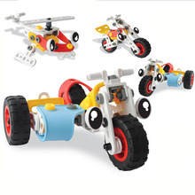 3 in 1 Baby Child Boy Disassembly & Assembly Motorbike Toy Early Education Build Block baby Building Trainning toy BT319(China (Mainland))