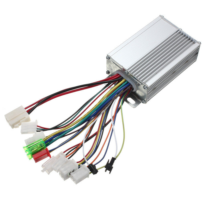 Hot Sale Special Offer Silvery Brushless Motor Controller For Electric Vehicle Scooter with/without Hall Sensor 36V/48V 350W(China (Mainland))