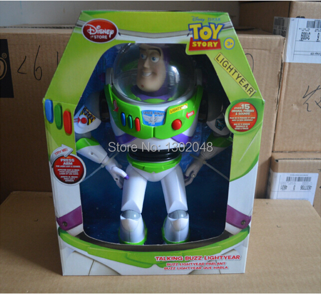 Orignal Toy Story 3 Buzz Lightyear Toys Talking Buzz Lightyear PVC Action Figure Collectible Toy 12 30CM free shipping Brazil<br><br>Aliexpress