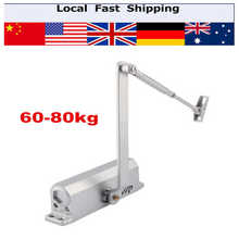 1Pcs Heavy Duty Steel Adjustable Households Overhead Door Closer Automatic Door Operators 60-80KG(Hong Kong)