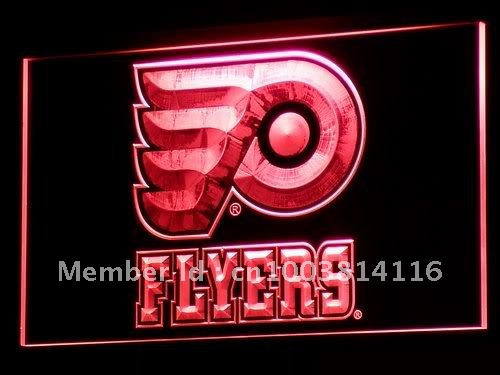 b097-r Flyers Hockey LED Neon Light Signs(China (Mainland))