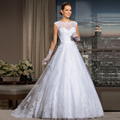 Robes De Mariage Lace Bridal Gowns 2017 Off Shoulder Appliqued Country Turkey Wedding Dresses Court Train