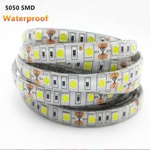 Waterproof RGB LED Strip Light 5050SMD Led Stripe Flexible String Ribbon Led Tape DC12V Holiday Christmas Decoration ip65 1/4/5m(China (Mainland))