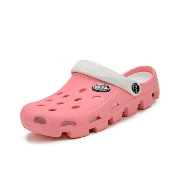 Новый подлинный воин отверстие тапочки пара сандалии мулы и сабо сад обувь для мужчин и женщин дышащий пляжная обувь # B1151